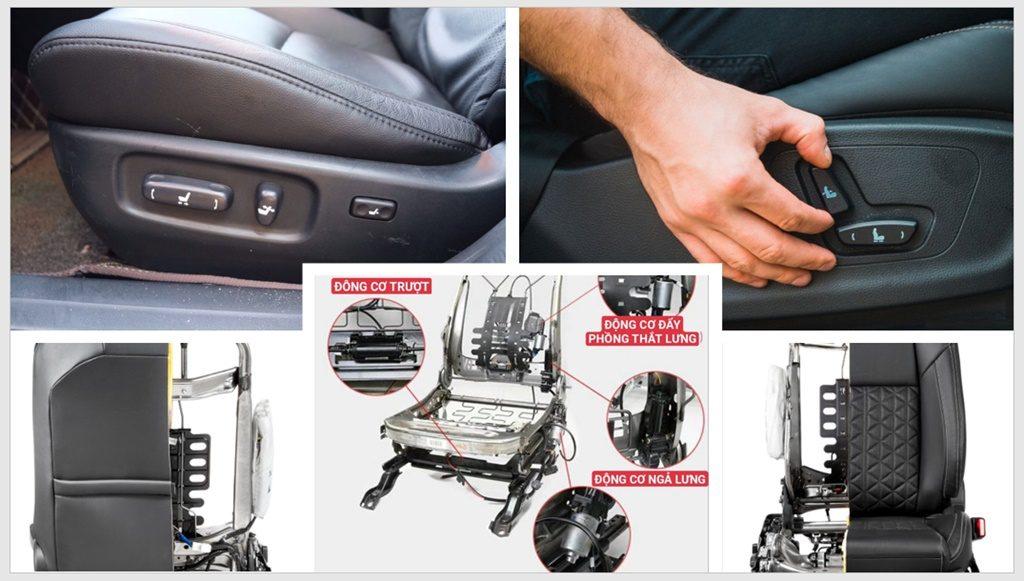 Độ ghế chỉnh điện ô tô 6 đến 8 hướng OEM
