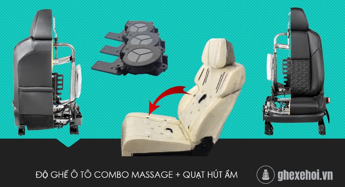 Độ ghế ô tô - Combo _ Massage + Quạt Hút ẩm
