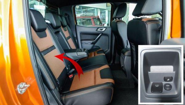 Độ ngả ghế sau xe bán tải Ford Ranger